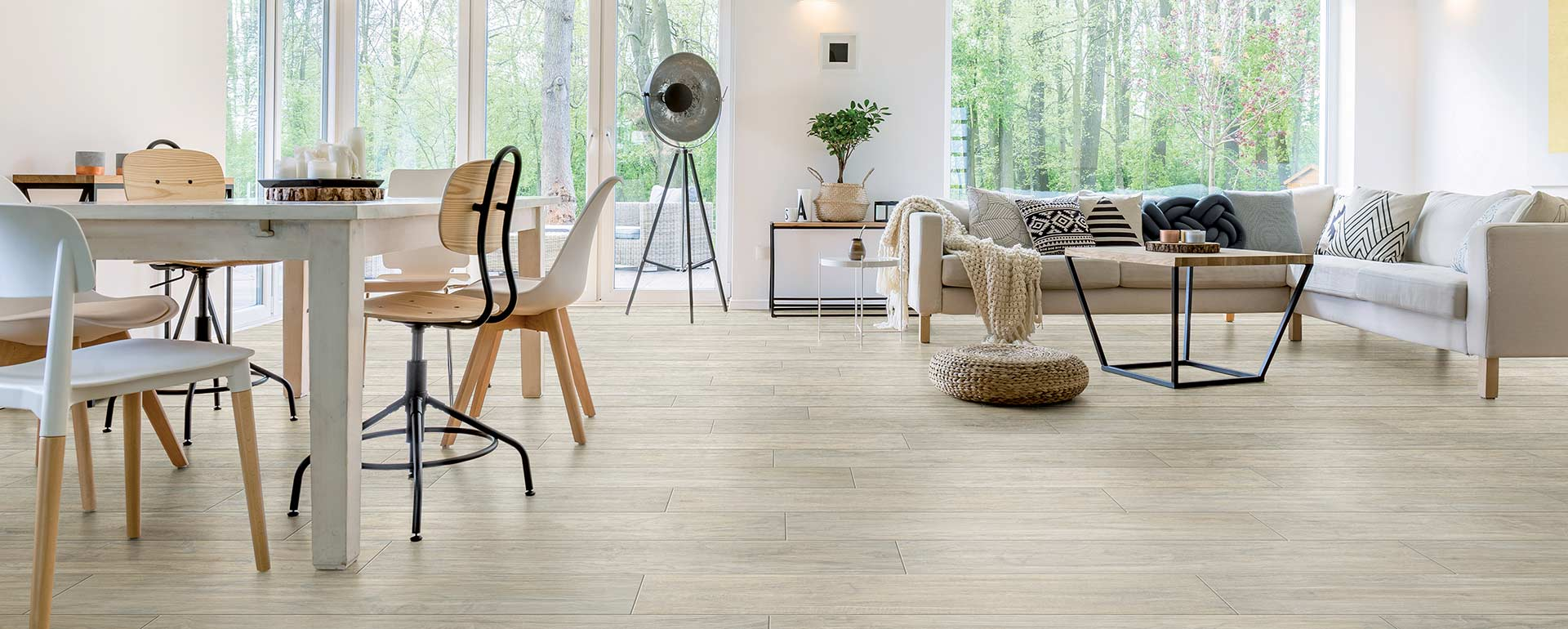 Full Circle ceramics Yosemite Wood Effect Tile - Shell, Natural Finish