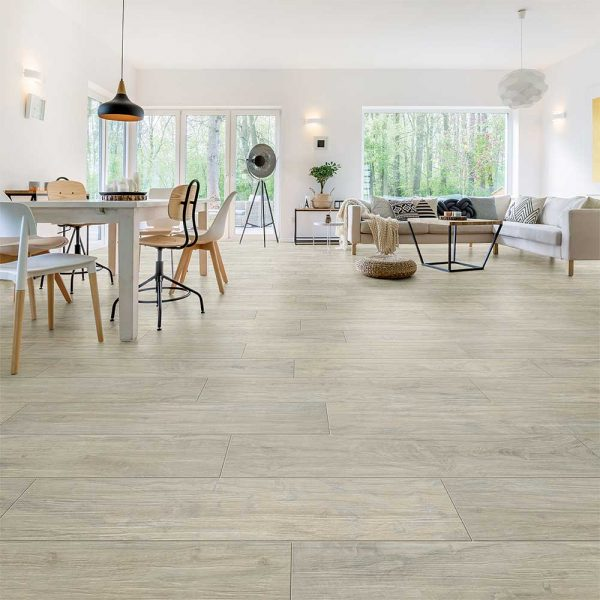 Full Circle Yosemite Wood Effect Tile - Shell, Natural Finish