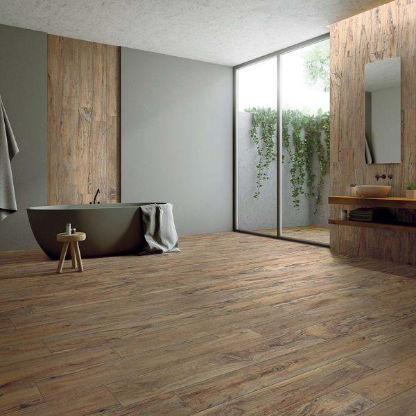 Full Circle Yosemite Wood Effect Tile - Tan, Natural Finish