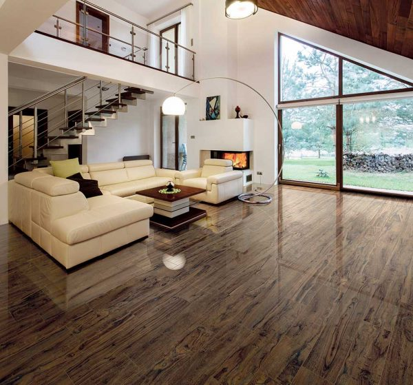 Full Circle Yosemite Wood Effect Tile - Walnut, Lapatto Finish