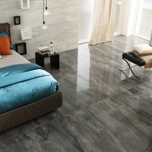 Icon Charcoal and Oyster Porcelain Tiles