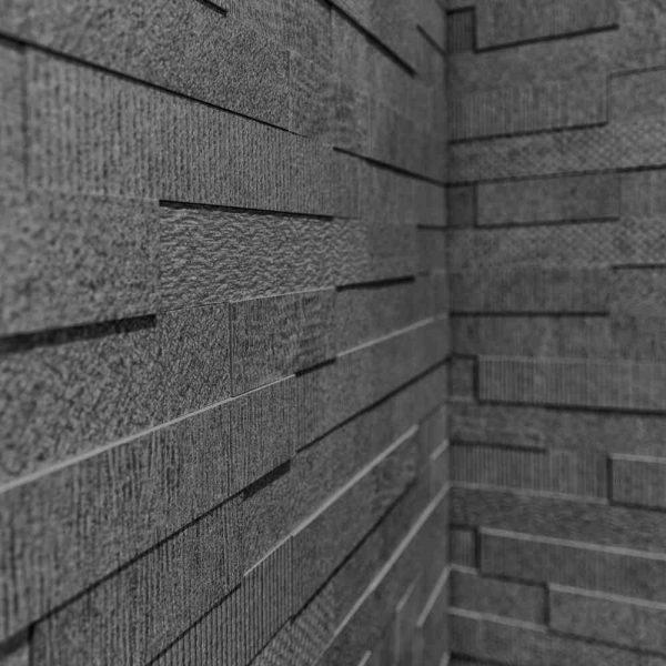 Cityscape Anthracite Brick Mosaic