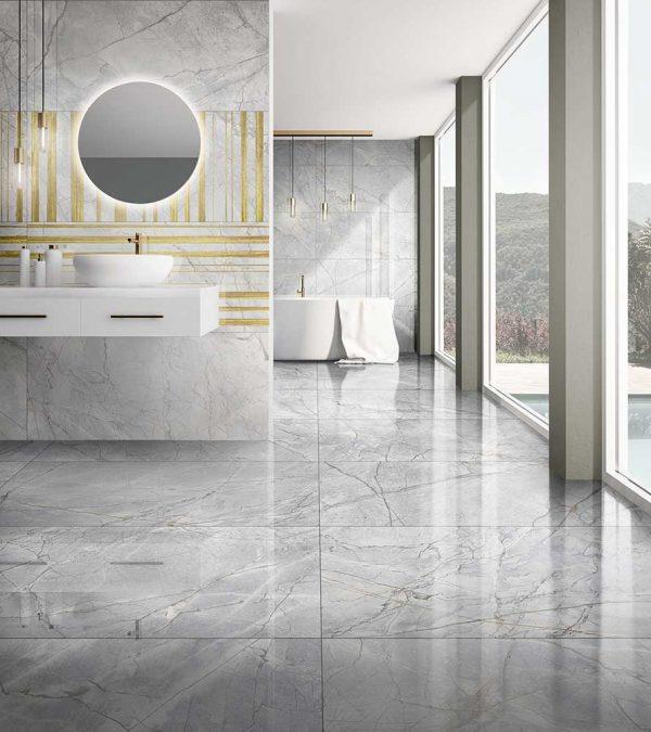 Como Invisible Grey Porcelain Tiles