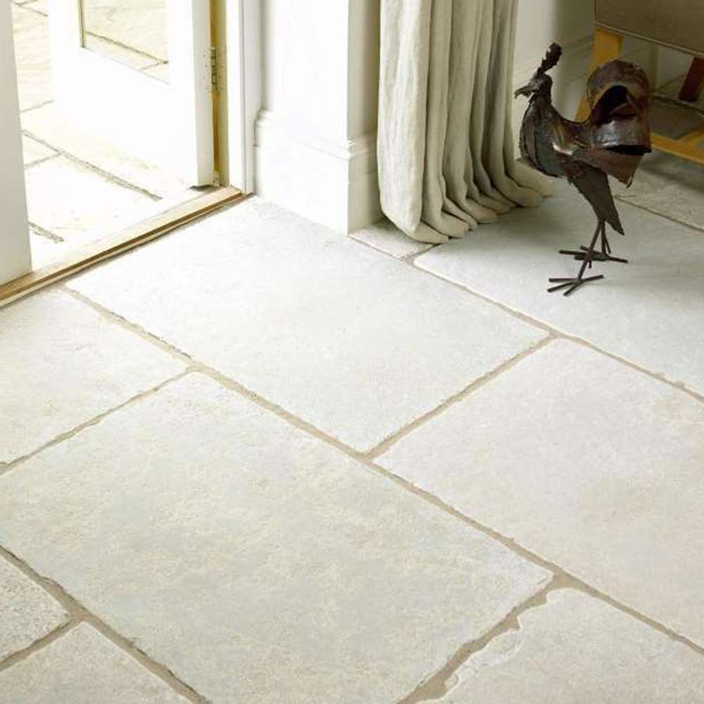 Minster Antiqued Limestone Floor Tiles - Full Circle Ceramics